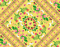Scarf Floral Pattern