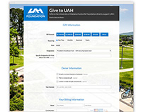 UAH Online Giving Form