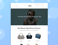 """Oakao"" Website Design Concept"