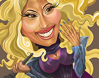 Nicky Minaj caricature