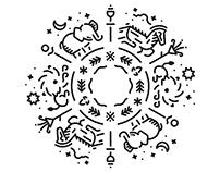 Sandakada Pahana Minimal Tattoo