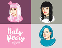 Katy Perry Chibi Illustrations