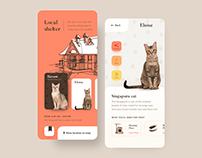 Adopt a cat app concept