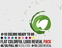 Flat Colorful Logo Reveal Pack, After Effects Templates