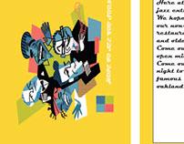 Adobe Illustrator Jazz Club Project - Postcard