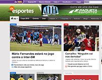 clicEsportes website redesign