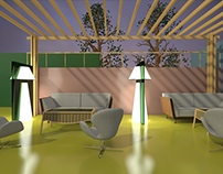 ZoZo floor lamp/partition