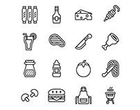 Barbecue Icon Set-03