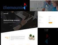 Themeunix Landing Page design