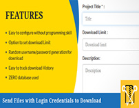 Secure Login Credentials For Shared Files to Download