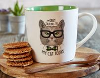 Papel Cat Mugs