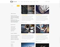 Blog Masonry Left Sidebar - Education WordPress Theme