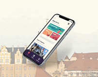 An app design concept for the city of Bernburg.
