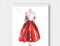 Some fashion watercolors