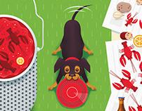 Crawfish Boil Illustration