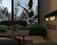 Fireplace launge area