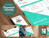 6 PSD Invoice Mockup templates