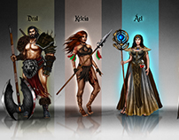 Characters for fantasy board game: Legends of Euthia