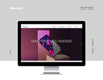 Hisense Spain & Portugal. Web design and development