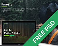 Foresty - Simple website with online shop | Freebie