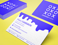 FREE colorfill / triplex business card mock-up