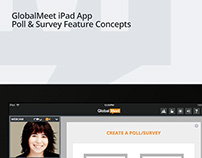GlobalMeet iPad App Poll & Survey Feature Concepts