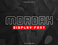 MORDAK - FREE GEOMETRIC DISPLAY FONT