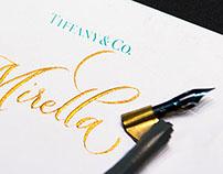 Calligraphy at Tiffany&Co