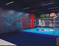 Fitness center in Khalg city.(Khirdalan) Boxing hall2