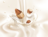 Almond Milk Vector Illustration