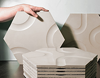 Groove style concrete tiles