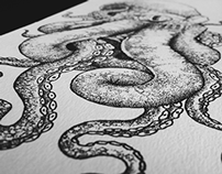 Octopus Dotwork - Design Tattoo