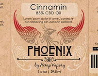 Hemp Vapery - Phoenix Product Line Logo and Packaging