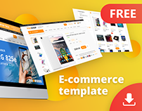 E-commerce template/store theme/shop (FREE Adobe XD)