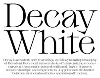 Decay White Typeface