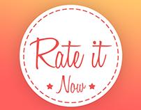 Rate It Now App - Digital 2016