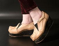 Geometric Platform Shoes