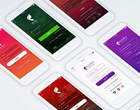 Mobile App 8 Login Screens UI Kit | Free for XD
