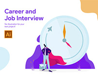 Career and Job Interview Illustration