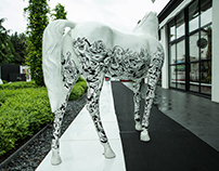 Drawing on a horse