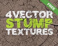 Free Vector Stump Textures x4