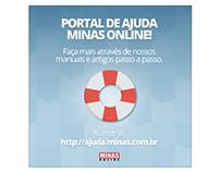 Banner para divulgação do novo portal de ajuda
