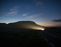 Mam Tor, midnight