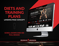 Diets and Training Plans Landing Page
