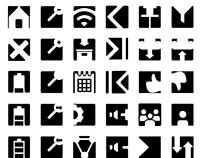 Free icons pack (negative space)