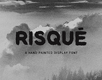 RISQUÉ — FREE Hand Painted Display Font