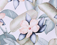 Tropical Floral Dye Painting