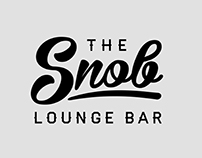 The Snob. Branding of the lounge bar.
