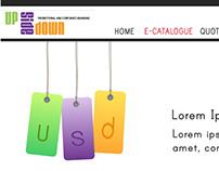 Up Side Down Branding Site Mockups