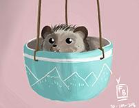 Pumkun the Hedgehog